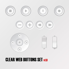 Light buttons vector set.