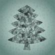 Christmas Tree Greeting Card ... made of spider-web-like