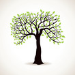 abstract green tree background
