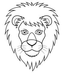 illustration of Lion face outline