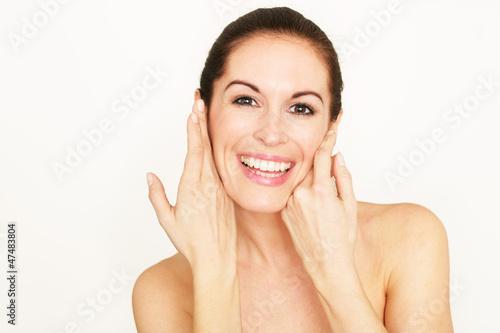 beauty portrait lachend