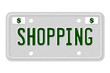 Shopping Car  License Plate