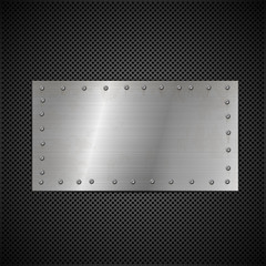 metal and perforated plate