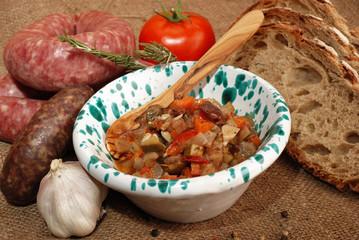 CAPONATA E SALUMI ( CAPONATA AND CURED MEATS )