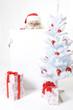 Weihnachtsmann mit leerer Wunschliste