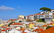 Lisbon panorama, Portugal. Buildings