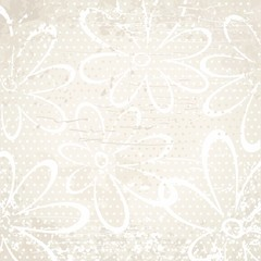 Beige vintage background with flowers