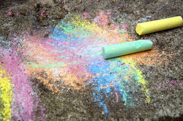 Chalk on the Pavement