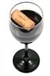 Verre de vin bouchonné