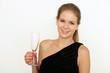 Mädchen mit Sektglas