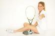 Blonde Tennisspielerin