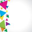 Triangles de couleur à gauche