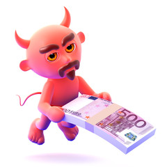Devil pays a bribe in Euros