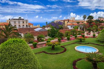 Tropical botanical gardens in La Orotava town, Tenerife