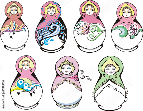 Russian ornamental matryoshka