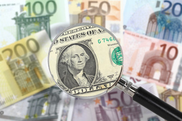 EU economy under US custody. Financial crisis concept
