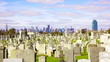 Manhattan skyline over Calvary Cemetery time-lapse, New York