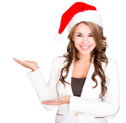 Businesswoman celebrating Christmas