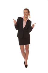 Enthusiastic happy businesswoman