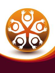 United people globe design vector.
