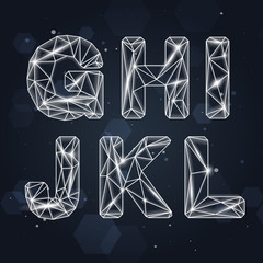 Vector Constellation Geometric Font G-L