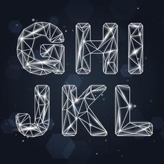 Vector Constellation Geometric Font G-L
