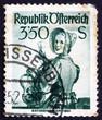 Postage stamp Austria 1951 Woman from Lower Austria, 1850