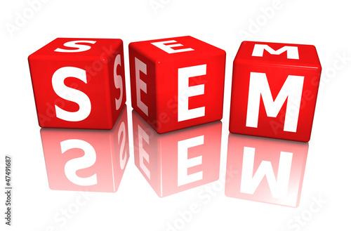 würfel cube sem - search engine marketing 3D