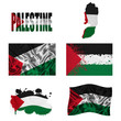 Palestinian flag collage