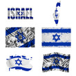Israeli flag collage
