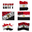 Egyptian flag collage