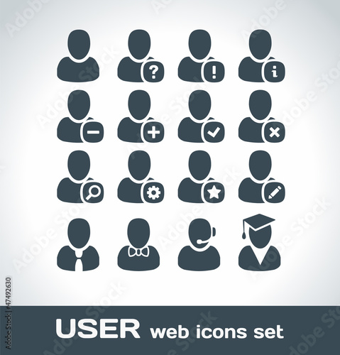 User Web Icons Set