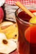Glass of fruit apple  tea