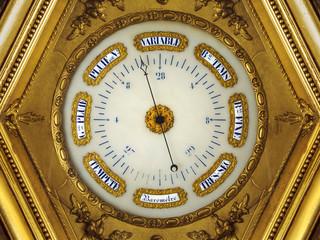 Nineteenth century golden barometer