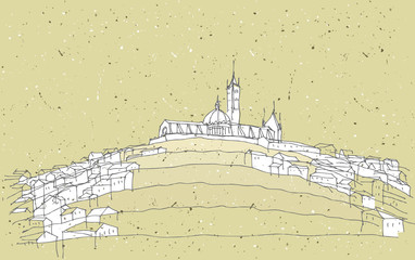 Sketching Historical Architecture in Italy: Sienna