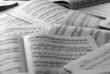 Leinwanddruck Bild - Partituras de piano