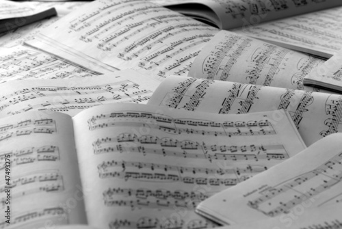 Leinwanddruck Bild Partituras de piano
