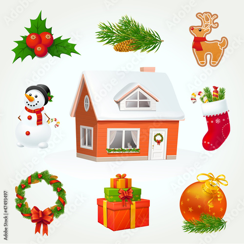 Highly detailed Christmas icon set