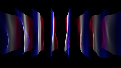 wonderful french flag video animation - loop HD