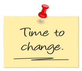 Zettel Time to change