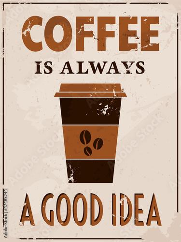 plakat-w-stylu-retro-kawy