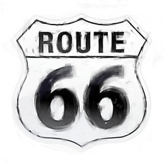 Painterly route 66 sign