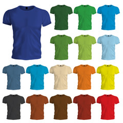Colored Tshirt Templates
