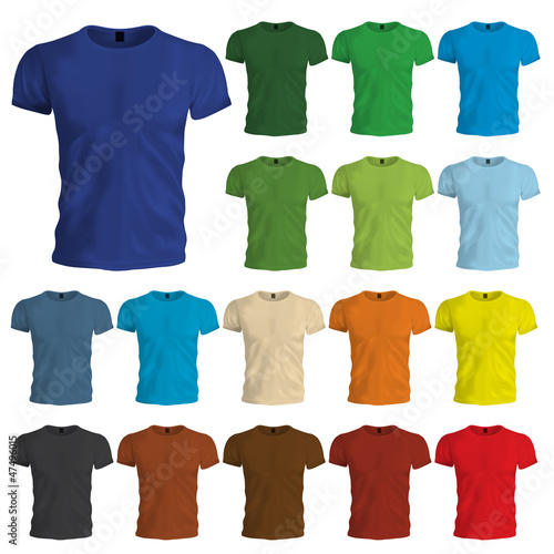 Colored Tshirt Templates - 47496015
