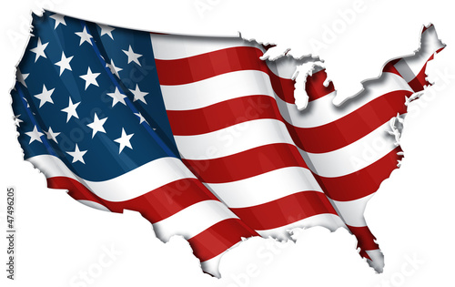 US Flag-Map Inner Shadow