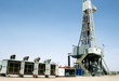 Overview of a drilling rig in the desert - 47497020
