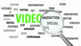 Magnifier passing over video and related keywords