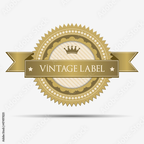 Retro vintage label and sticker