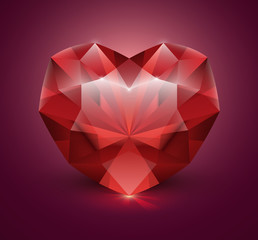 Heart shaped gem stone