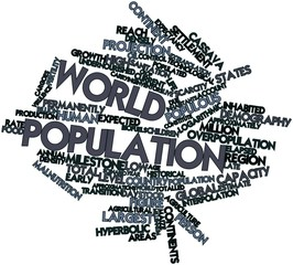 Word cloud for World population